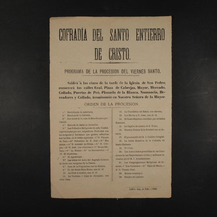 Programa S. Santa 1888